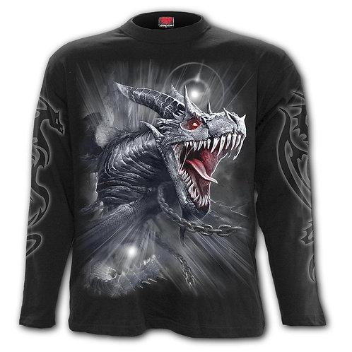 DRAGON'S CRY - Longsleeve T-Shirt Black