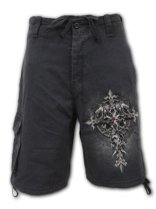 CUSTODIAN - Vintage Cargo Shorts Black (Plain)