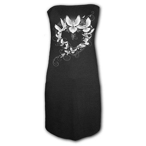 DOVES HEART - Ribbon Back Dress Black (Plain)