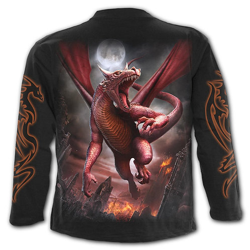 AWAKE THE DRAGON - Longsleeve T-Shirt Black