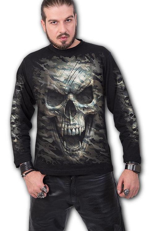 CAMO-SKULL - Longsleeve T-Shirt Black