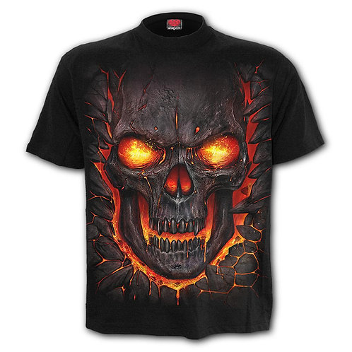 SKULL LAVA - Kids T-Shirt Black (Plain)
