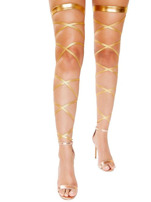 4929 - Pair of Metallic Leg Wraps