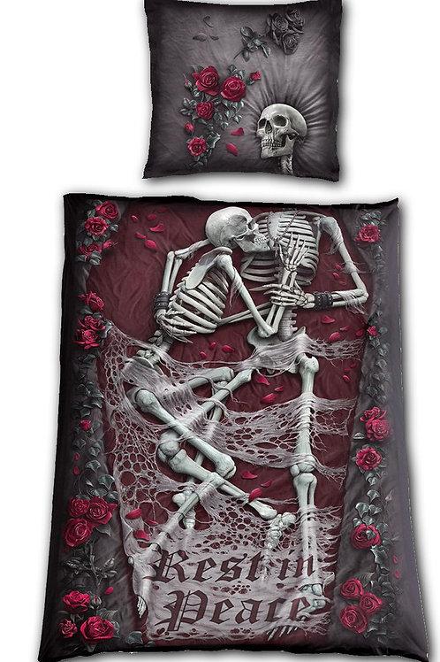 REST IN PEACE - Single One Print Bedlinen + EU Pillow
