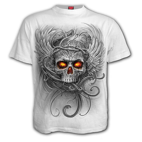 ROOTS OF HELL - T-Shirt White (Plain)