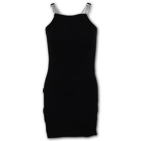 GOTHIC ROCK - Camisole Chain Dress Black (Plain)