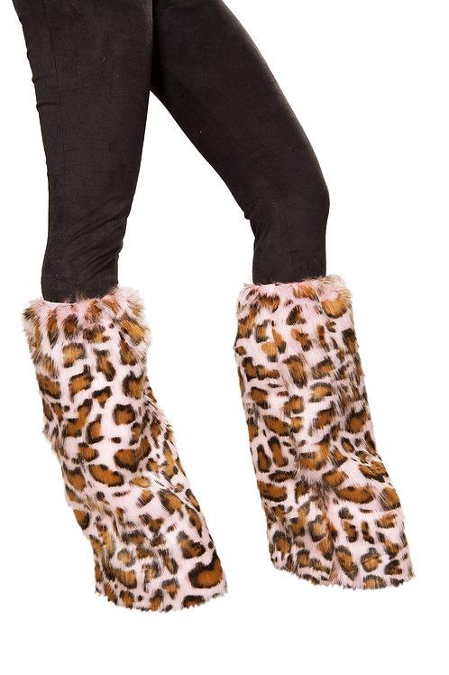 4889 - Pair of Pink Leopard Leg Warmers