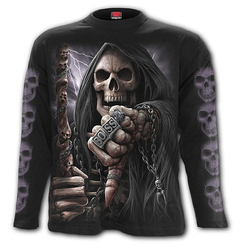 BOSS REAPER - Longsleeve T-Shirt Black