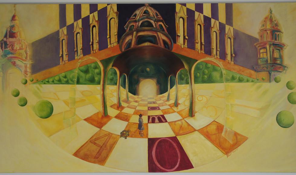 """La lectura I: Momo"" (Michael Ende). 130x 80 cm"