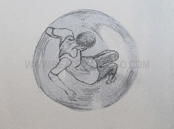 Alegoría del Covid19 (burbujas)