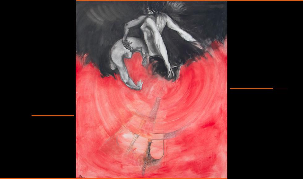 """""""El baile."""" 148 x 120 cm. Óleo sobre lienzo."""