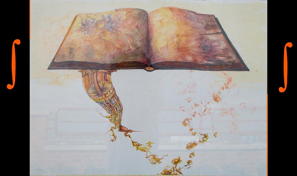 """""""La lectura."""" 76 x 57 cm. Acuarela sobre papel."""
