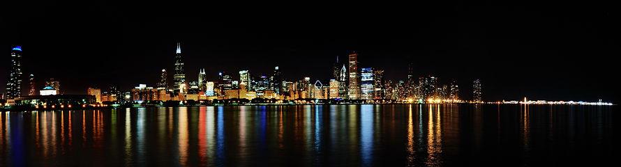 Chicago skyline, Willis Tower, Lake Michigan