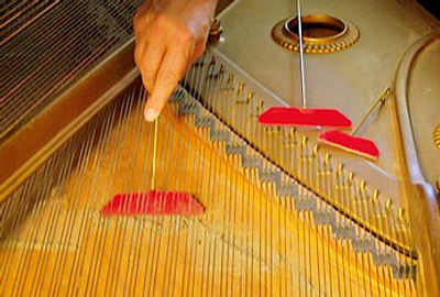 Grand piano cleaning