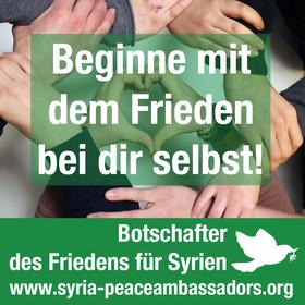 Beginne mit dem Frieden bei dir selbst!