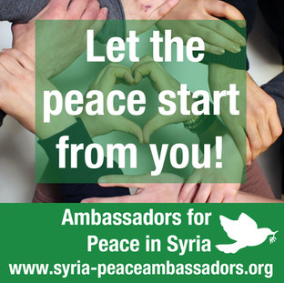 Let the peace start from you!