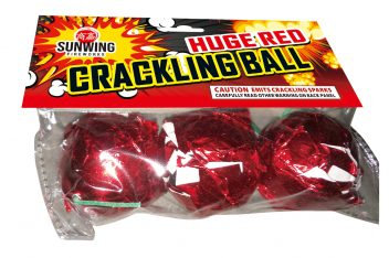 Huge Red Crackling Ball