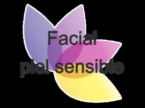 Facial piel sensible