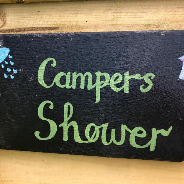 Campers shower