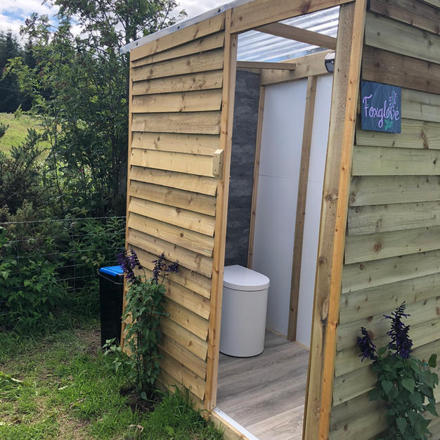 Posh compost toilet