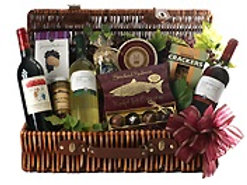 Gourmet Wine & Salmon Basket