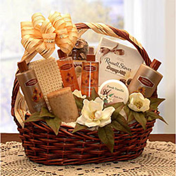 Spa Basket With Robe and Slipper Socks