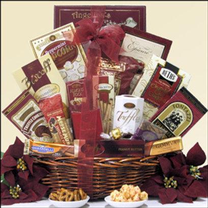 Christmas Basket - Burgundy