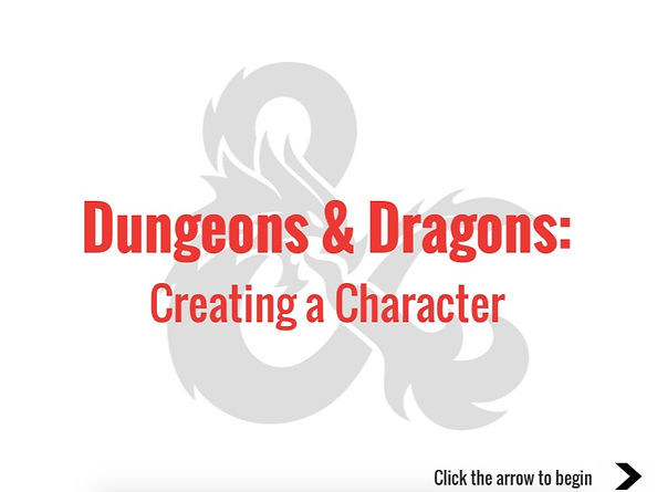 D&D Creating a Character Link