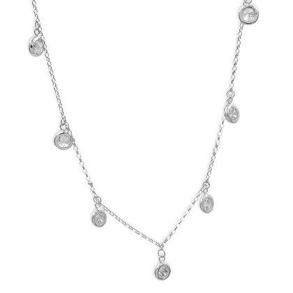 Collier mit 7 Zirkonia, Silber 925