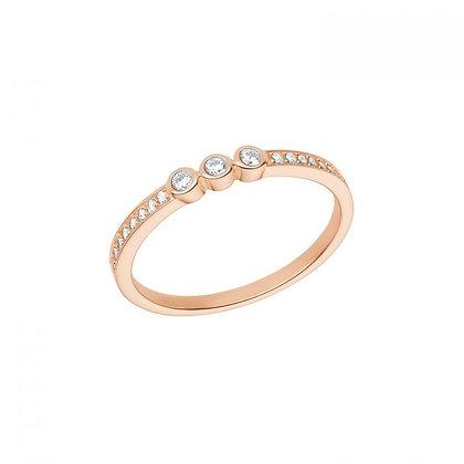 Ring mit Zirkonia, Silber 925 rosevergoldet