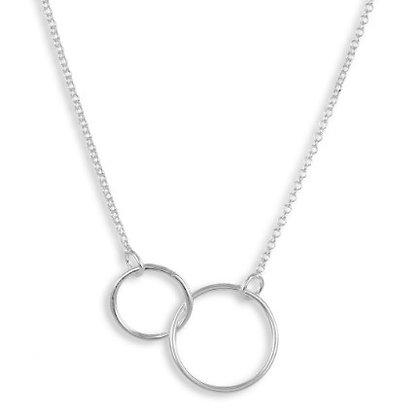 Collier Kreise 42cm, Silber 925