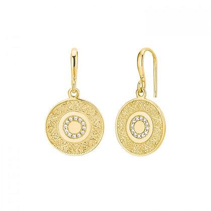 Ohrhänger mit Zirkonia, gelbvergoldet Silber 925