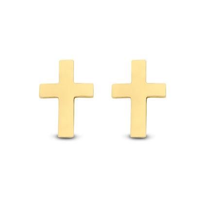 Ohrstecker Kreuz Gold 585