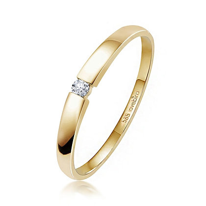 Ring mit Brillant 0,03 ct. Gold 585