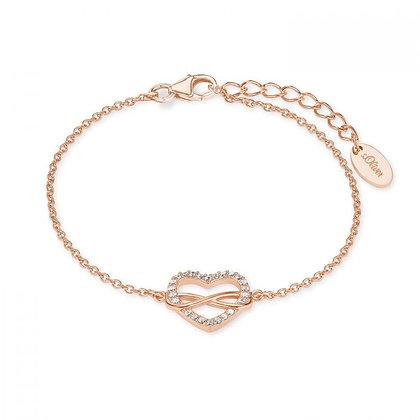 Armband Herz/Infinity 925 Silber rosevergoldet