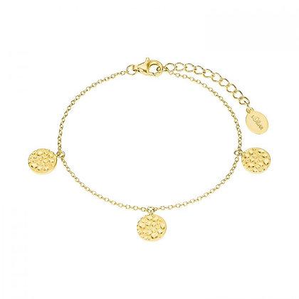 Münzarmband gelbvergoldet, Silber 925