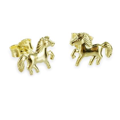 Ohrstecker Pferd - Gold 333