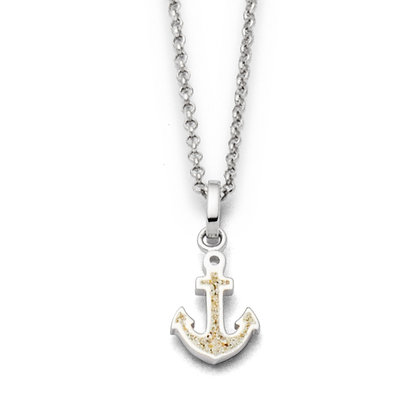 Dur Ankeranhänger Strandsand Silber 925/rhodiniert