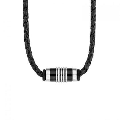 Leder-Halskette Edelstahl für Herren