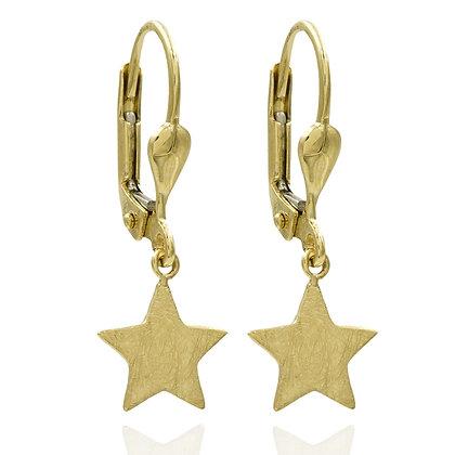 Ohrhänger Stern eismatt Gold 333
