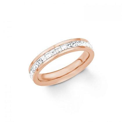 Ring Swarovski Edelstahl rosevergoldet