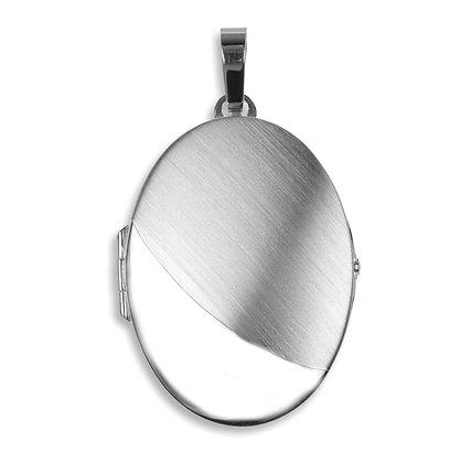 Medaillon teilmatt - Silber 925 Silber