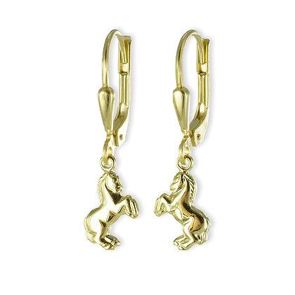 Ohrhänger mit Pferd - Gold 333