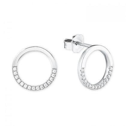 Ohrringe Kreis Silber 925