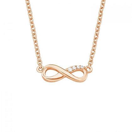 Halskette Infinity mit Zirkonia Silber 925