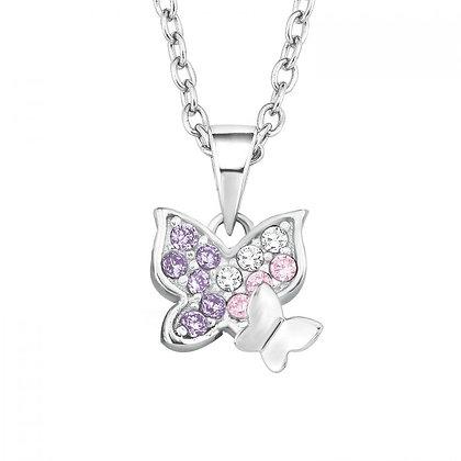 Kette mit Schmetterlings-Anhänger Silber 925