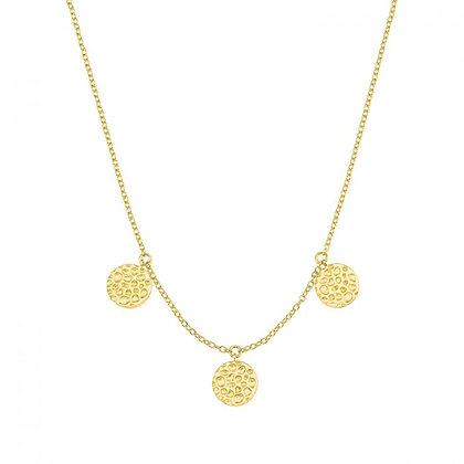 Münzkette, gelbvergoldet Silber 925