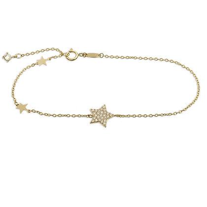 Armband 3 Sterne mit 27 Zirkonia Gold 333