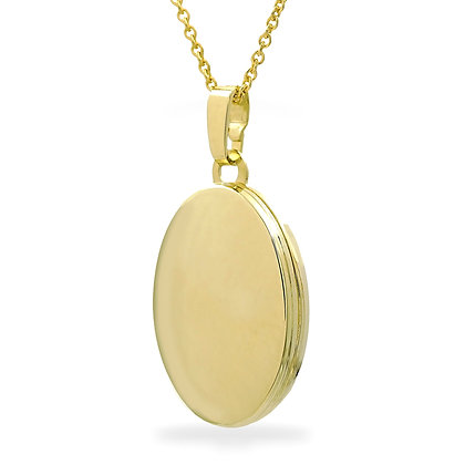 Medaillon oval 16 x 21mm Silber 925 Silber