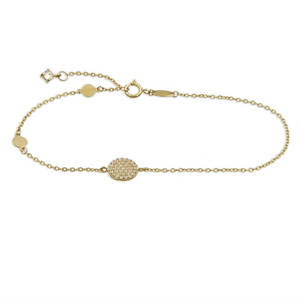 Armband 3 Kreise mit 38 Zirkonia Gold 333